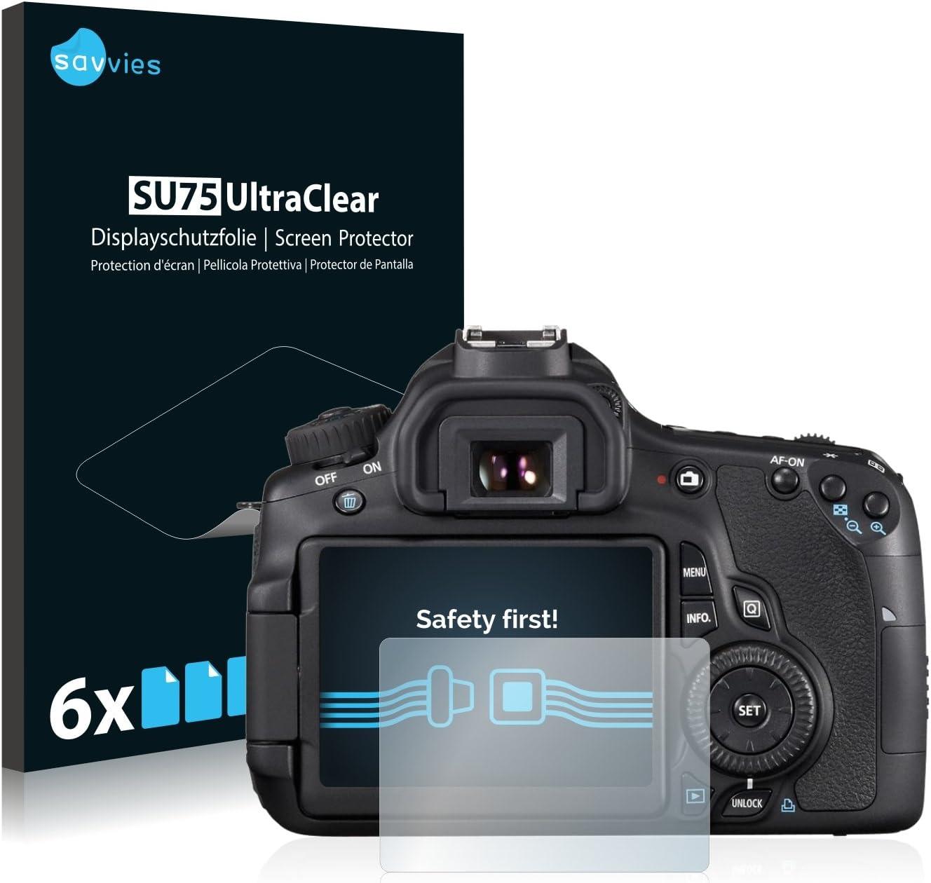 Savvies 6x Schutzfolie Kompatibel Mit Canon Eos 60d Elektronik