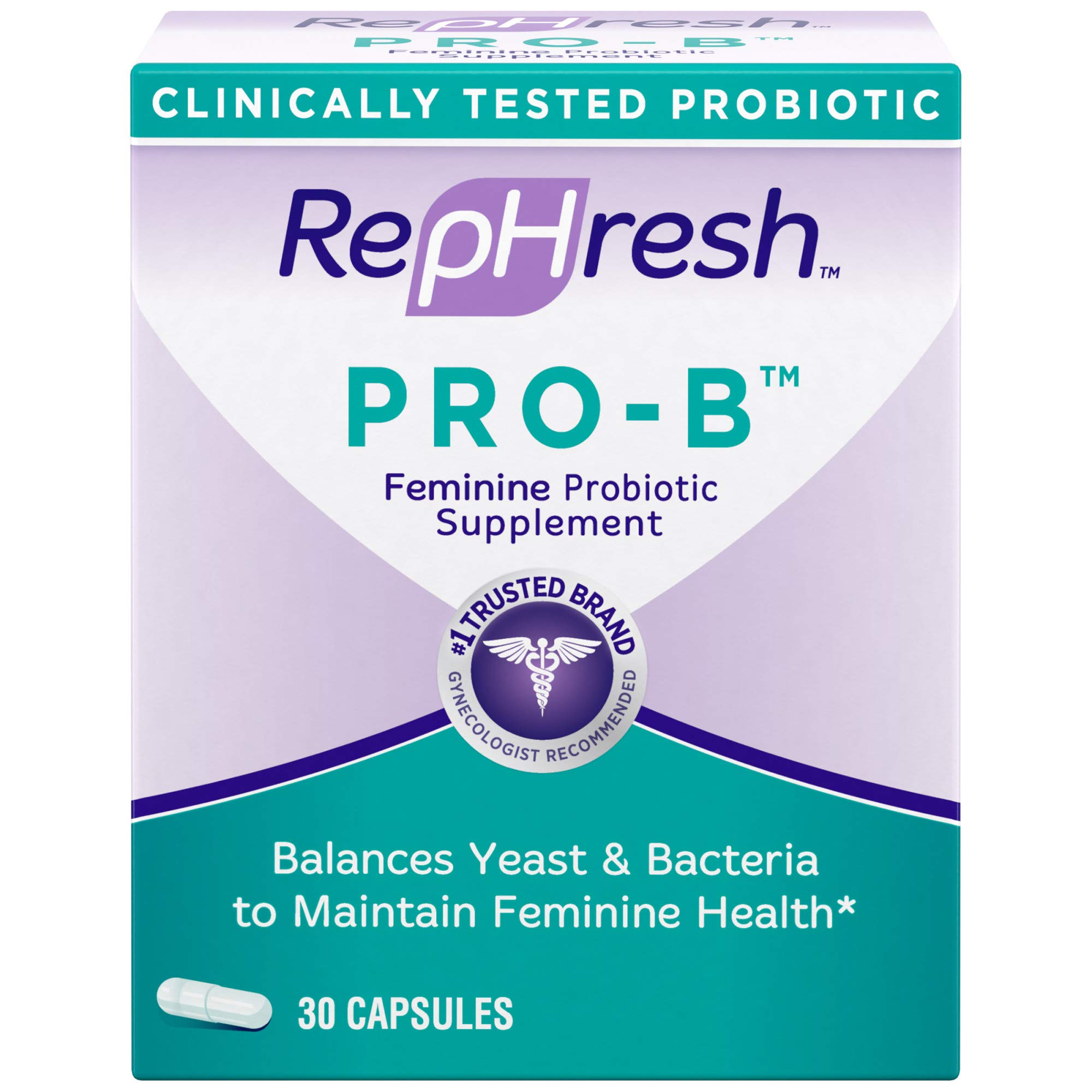 RepHresh Pro-B Probiotic Supplement for Women, 30 Oral Capsules by Rephresh