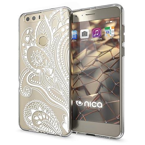 NALIA Funda Carcasa Compatible con Huawei Honor 8, Motivo Design Protectora Movil Silicona Ultra-Fina Gel Transparente Cubierta, Goma Bumper ...