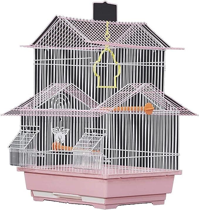Jaula dpájaros duradera y ecológica, Jaula de vuelo para periquitos para pájaros decorativos Decoración para el hogar, Cubierta de la jaula para periquitos, Jaula de loro casera de lujo, jaula de pája
