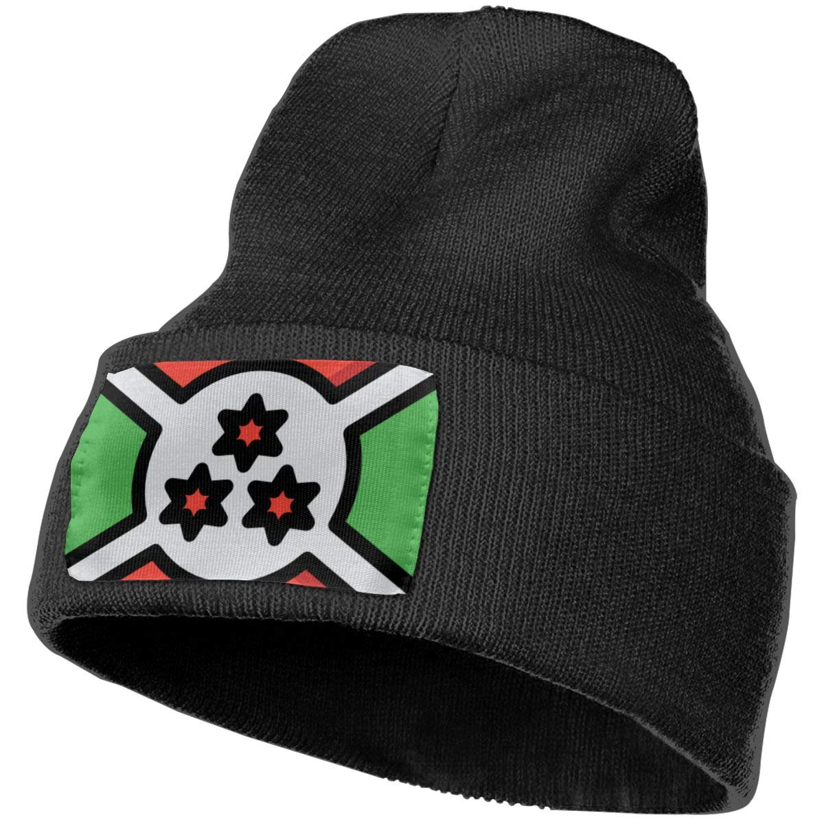 Eye Of The Angel Burundi Black Beanie Hat for Men and Women Winter Warm Hats Knit Slouchy Thick Skull Cap