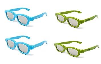 Ultra 2 Azul 2 Verde Gafas 3D Pasivo para Niños para Uso con todas ...