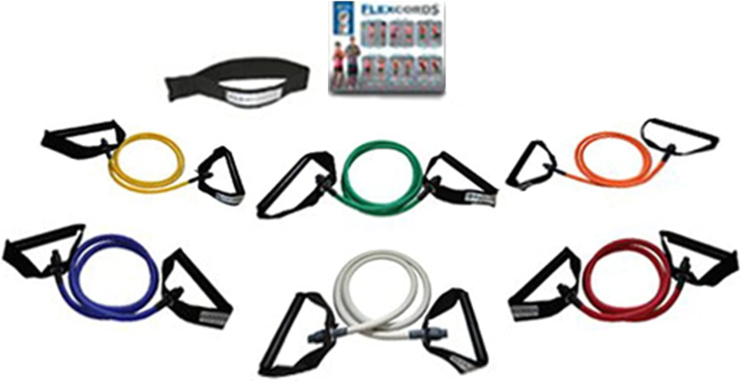 Flexcords - Resistance Bands Set | Exercise Bands | Home Gym Fitness Equipment | Workout Bands | Exercise Equipment