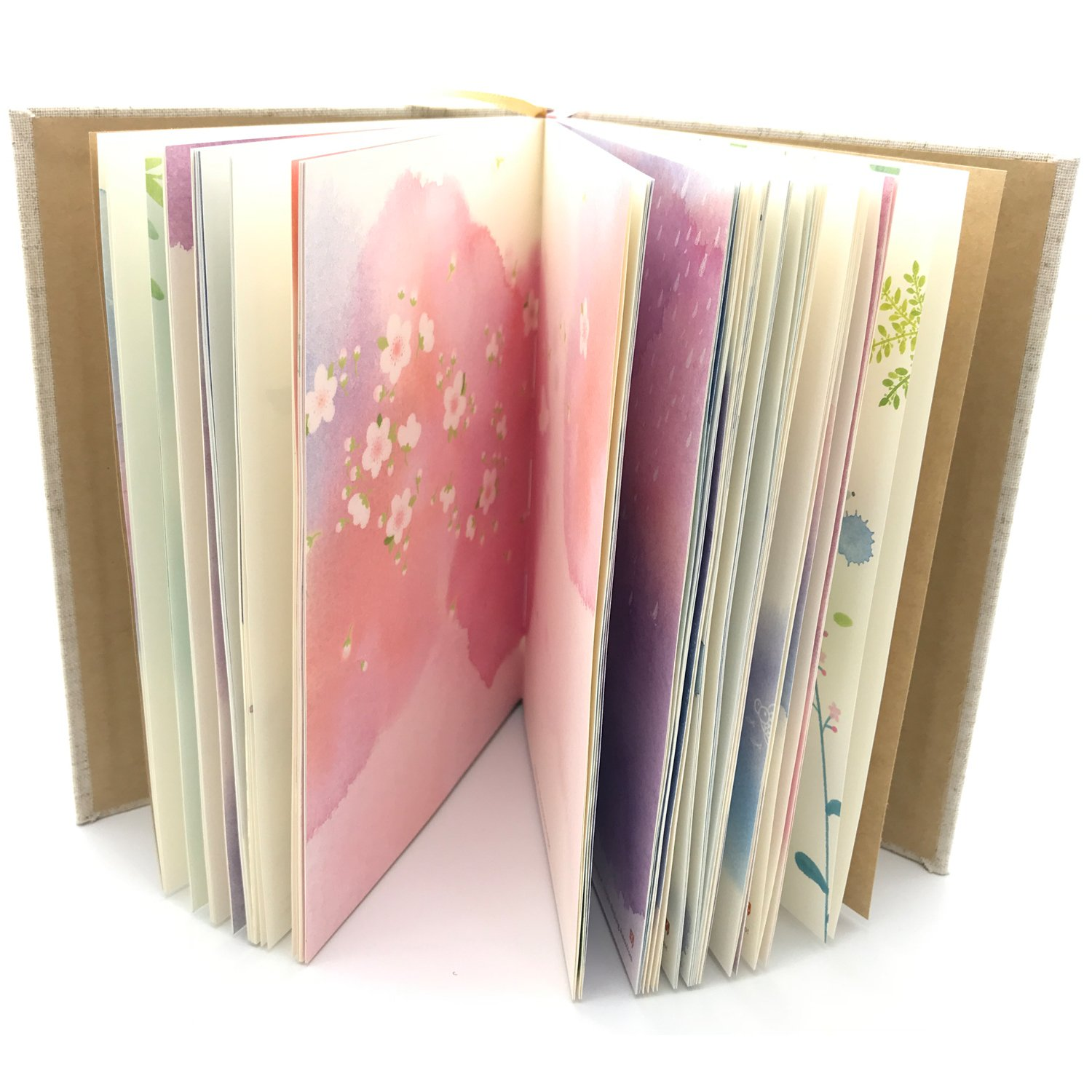 Siixu Colorful Journal Notebook, Hardcover, Pretty Journal for Writing, Elegant Unlined Paper, 5.3 x 7.2 in, 192 Pages