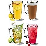 Grands verres à café latte Rink Drink - 380ml (13,4 oz) - Coffret-cadeau de 4