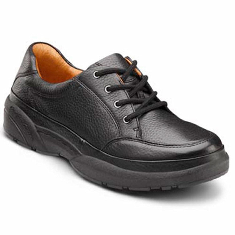 Dr. Comfort Justin Men's Therapeutic Diabetic Extra Depth Shoe Leather Lace -7.5 X-Wide (3E/4E) Black Lace US Men Black