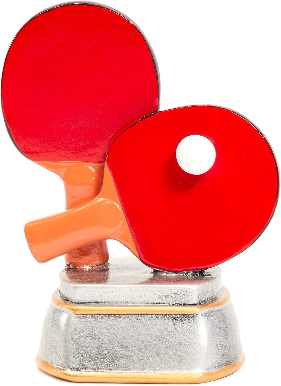 Juvale Premio Trofeo de Tenis de Mesa de Ping Pong–Trofeo (para competiciones Deportivas, Concursos, Partes, 5,5x 4,25x 3,75Pulgadas