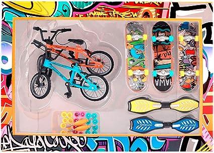 Mini Finger Skateboard Fingerboard Bike Scooter Two Wheels Board Party Toys Gift
