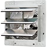 """iLiving ILG8SF10V - 10"""" Wall Mounted Exhaust Fan - Automatic Shutter - Variable Speed - Vent Fan For Home Attic, Shed, or Gar"""