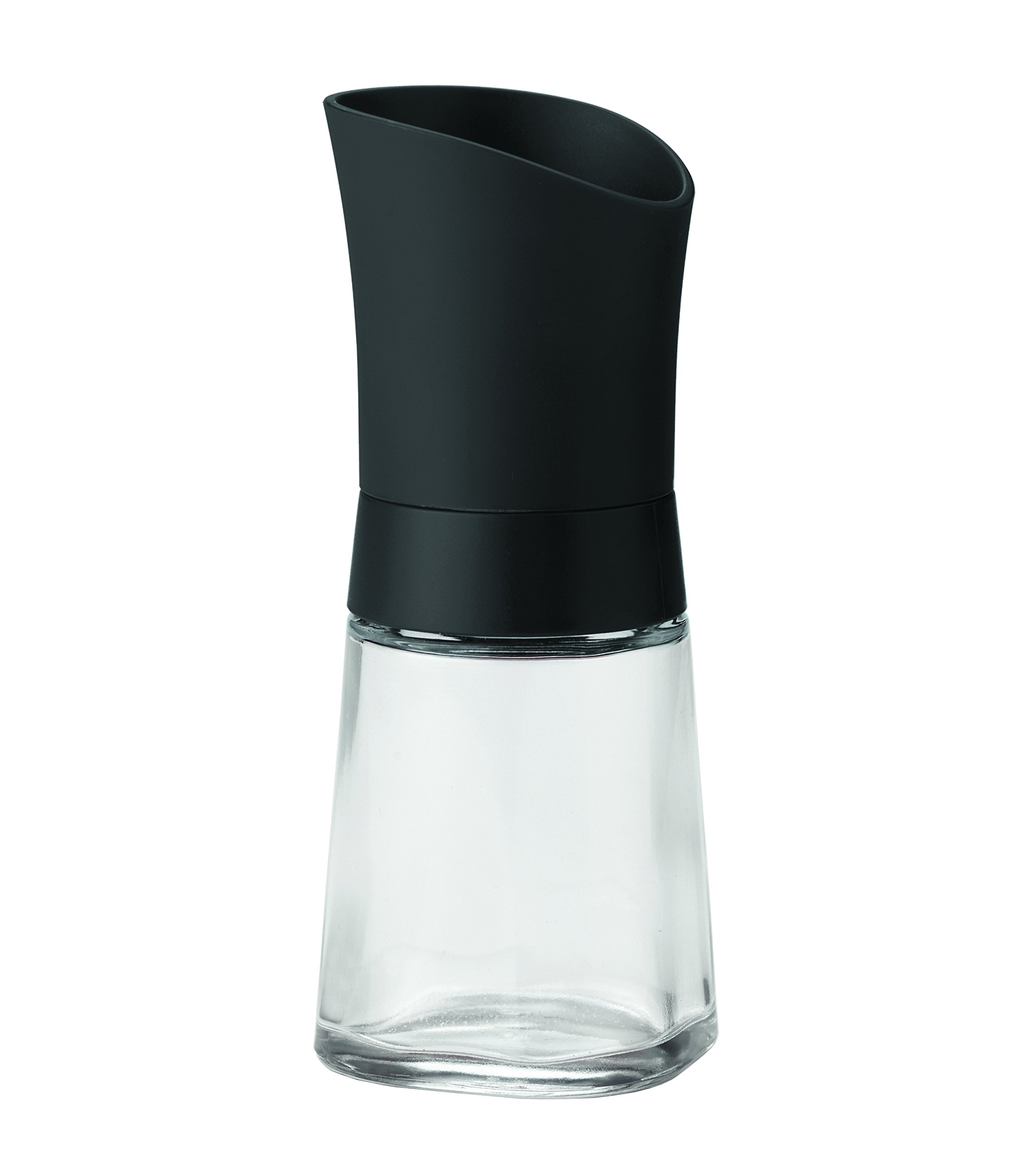 Linden Sweden 012185 Lily Adjustable Ceramic Spice Grinder - Ideal for Sea Salt, Peppercorns, Dried Spices, Herbs, Flaxseed and More, Dishwasher Safe, Glass Body, BPA-Free, 5'', Black by Linden Sweden