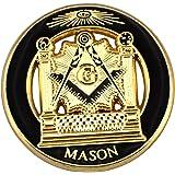 神殿 ピンバッジ 秘密結社 フリーメイソン G コンパス 目 デラックス留め金付 ピンズ フリーメイスン
