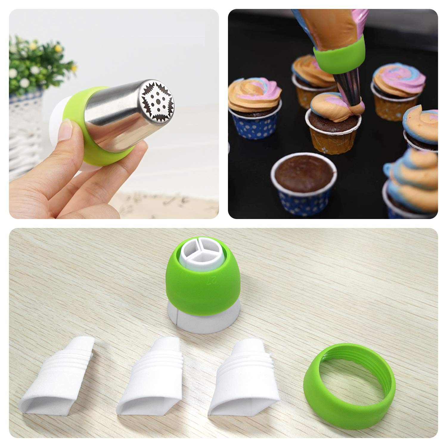 Cake Decorating Supplies 6 Pack Reusable Silicone Pastry Bags Piping Bags Frosting Bags 12 inch 14 inch 16 inch