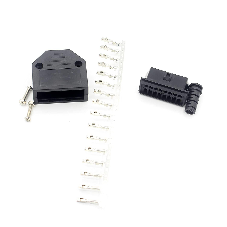 Conector Hembra para Herramienta de diagn/óstico OBD2 o Cable 10 Unidades LoongGate OBD II 16 Pines, Adaptador de Enchufe de Cable