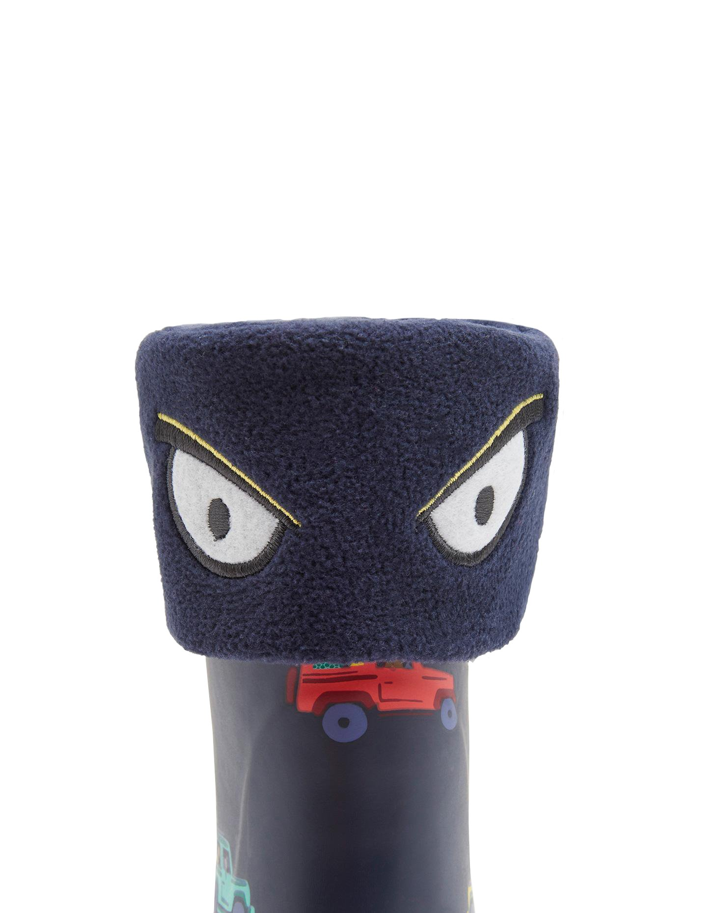 Joules Character Welly Socks - Navy Eyes - UK 1-3 / EU 33-36 / US 2-4 by Joules