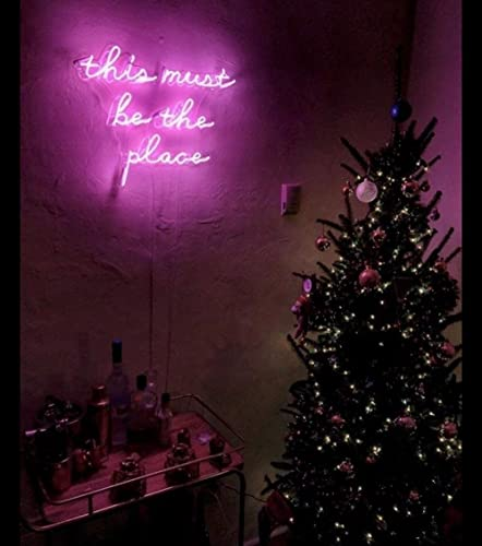 Beau This Must Be The Place Real Glass Neon Sign For Bedroom Garage Bar Man Cave  Room