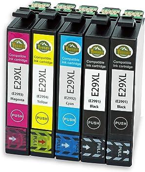 YUUSHA 29XL Pack de 5 Cartucho de Tinta Compatible EPSON 29 29XL para Epson Expression Home XP-255 XP-452 XP-352 XP-245 XP-255 XP-342 XP-247 XP-442 XP-235 XP-432 XP-332 XP-335 XP-435: Amazon.es: Electrónica