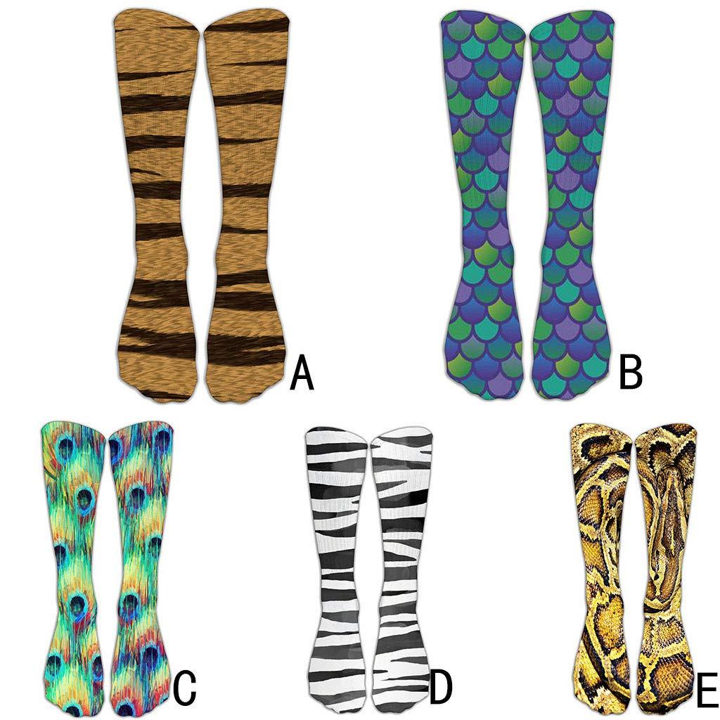 Denzar Animal Paws Socks, Unisex Adult Novelty Animal Socks Funny Paw Crew Socks,Unisex 3D Print Animal Foot Hoof Paw Print Sock Crew Socks (B) by Denzar (Image #2)