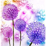 Diamond Painting Kit, Full Drill 5D DIY Crystal Rhinestone Embroidery Pictures Arts Craft for Home Wall Decor Gift Dandelion 12X12inch