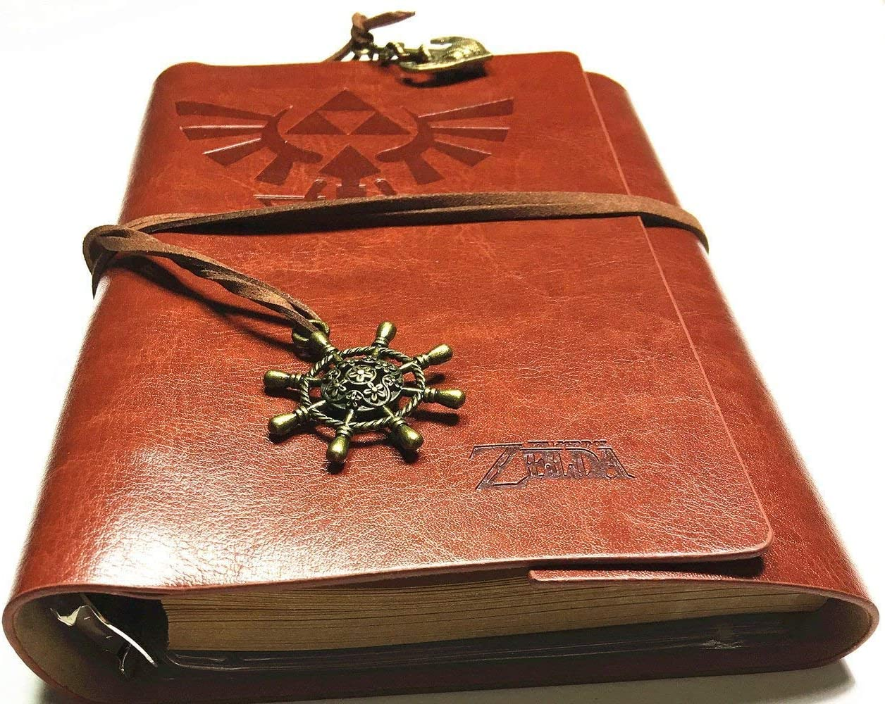 Travel journal and Note,card holder-Legend of Zelda Vintage PU Leather Notebook for Diary