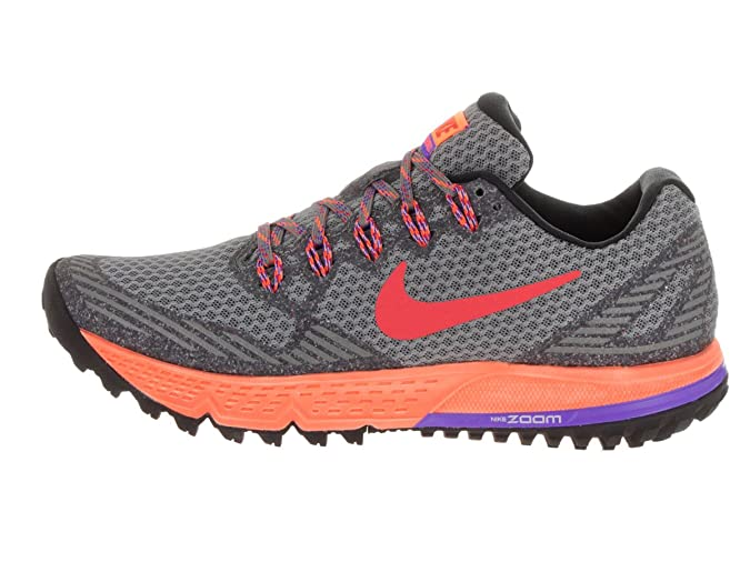 Amazon.com | NIKE Womens Air Zoom Wildhorse 3 Tumbled Grey/Ember Glow Running Shoe 6 Women US | Road Running