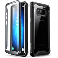 i-Blason Ares Designed for Galaxy S8 Case, Full-body Rugged Clear Bumper Case With Built-in Screen Protector for Samsung Galaxy S8 2017 Release (Black)