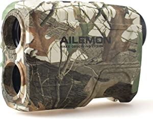 AILEMON 6X Laser Range Finder Rechargeable for Hunting Bow Rangefinder Distance Measuring Outdoor Wild 1200Y with Slop Flaglock High-Precision Continuous Scan