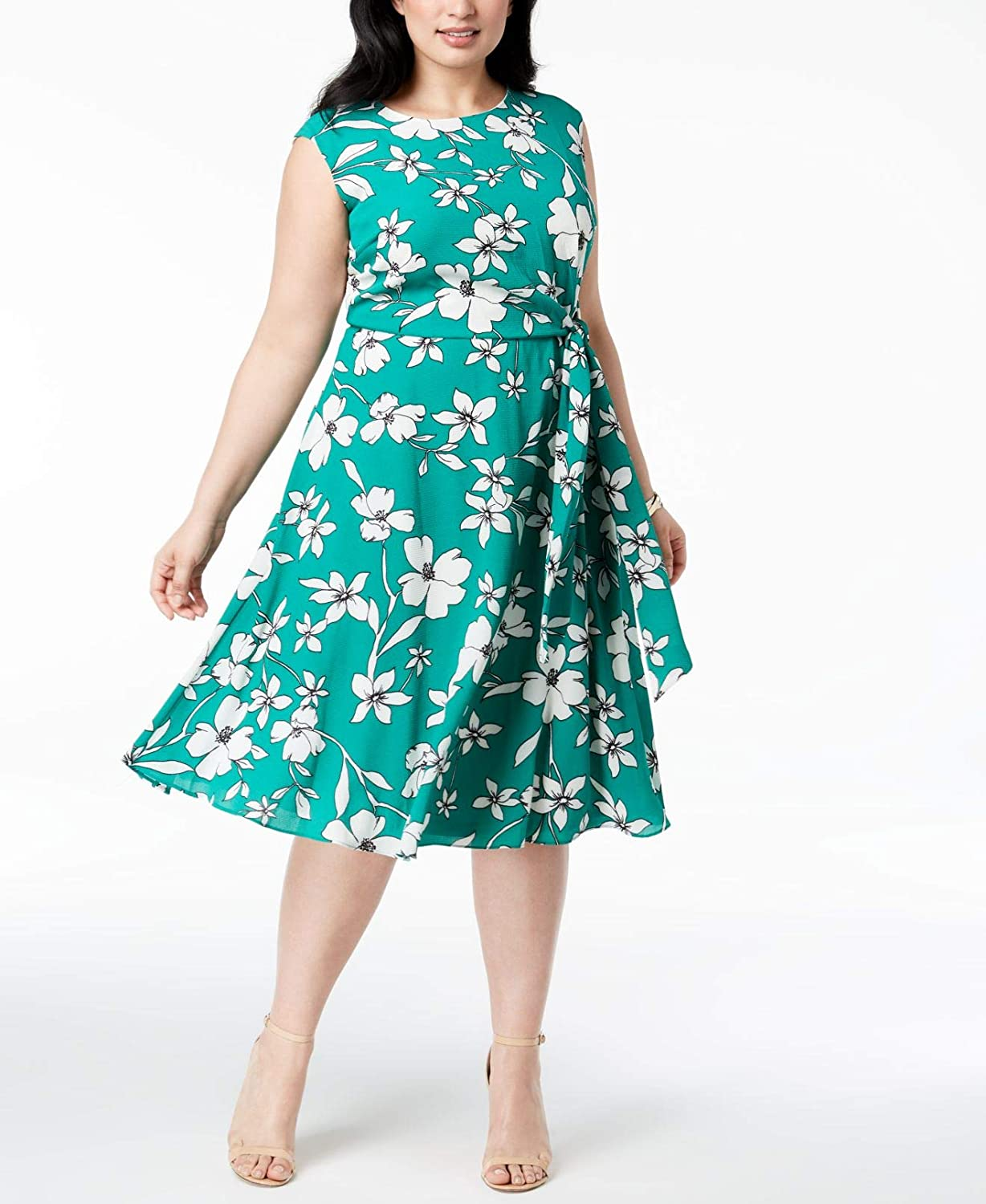 Jessica Howard Women/'s Floral-Print A-Line Dress