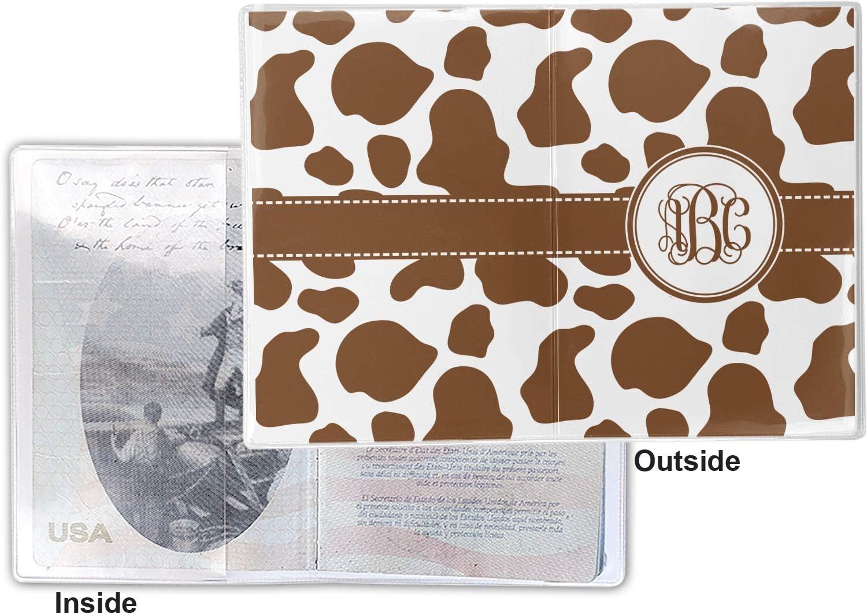Cow Print Vinyl Passport Holder Personalized