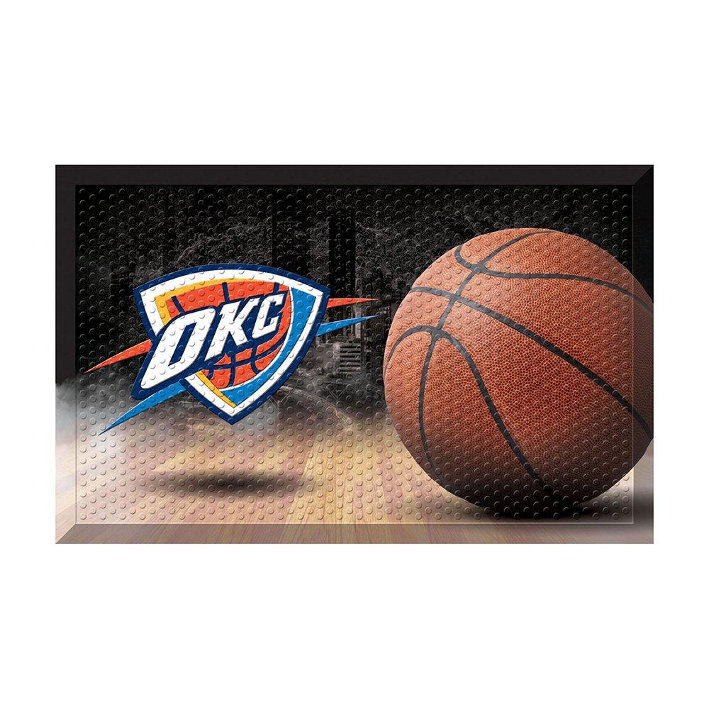 Fanmats 19104 Team Color 19'' x 30'' Oklahoma City Thunder Scraper Mat (NBA Ball)