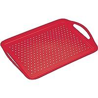 Kitchencraft Colourworks–Bandeja para servir (antideslizante, rojo, 28,5x 41cm