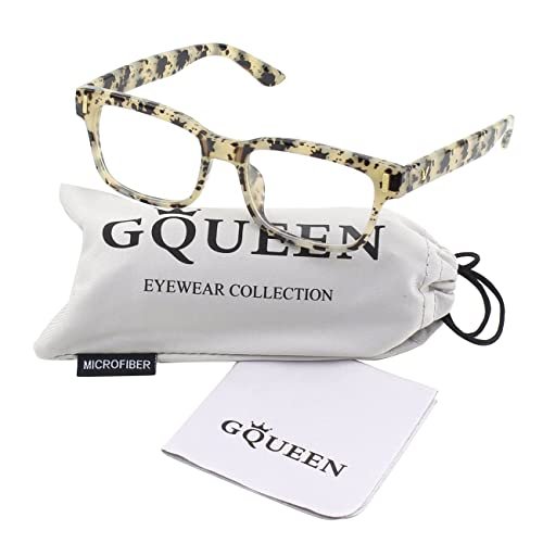 GQUEEN moda moderna Rectangular Bastidor gruesas gafas lentes transparentes PE4