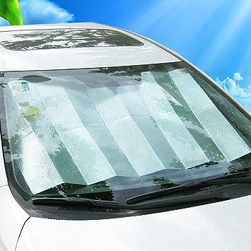 DaoRier Auto Sonnenschutz Frontscheibe Windschutzscheibe Schutz KFZ Doppelseitiges Aluminiumfolie Sonnenblende Faltbare Einfache Lagerung 140 x 70cm