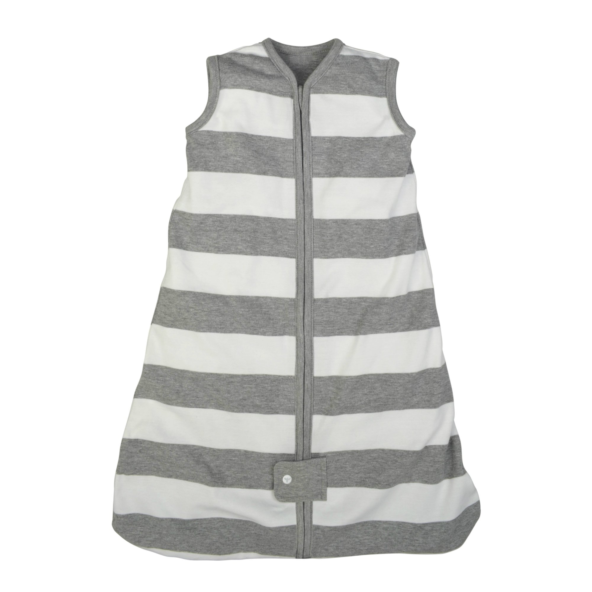 Burt's Bees Baby - Beekeeper Wearable Blanket, 100% Organic Cotton, Rugby Stripe Heather Grey (Large) by Burt's Bees Baby