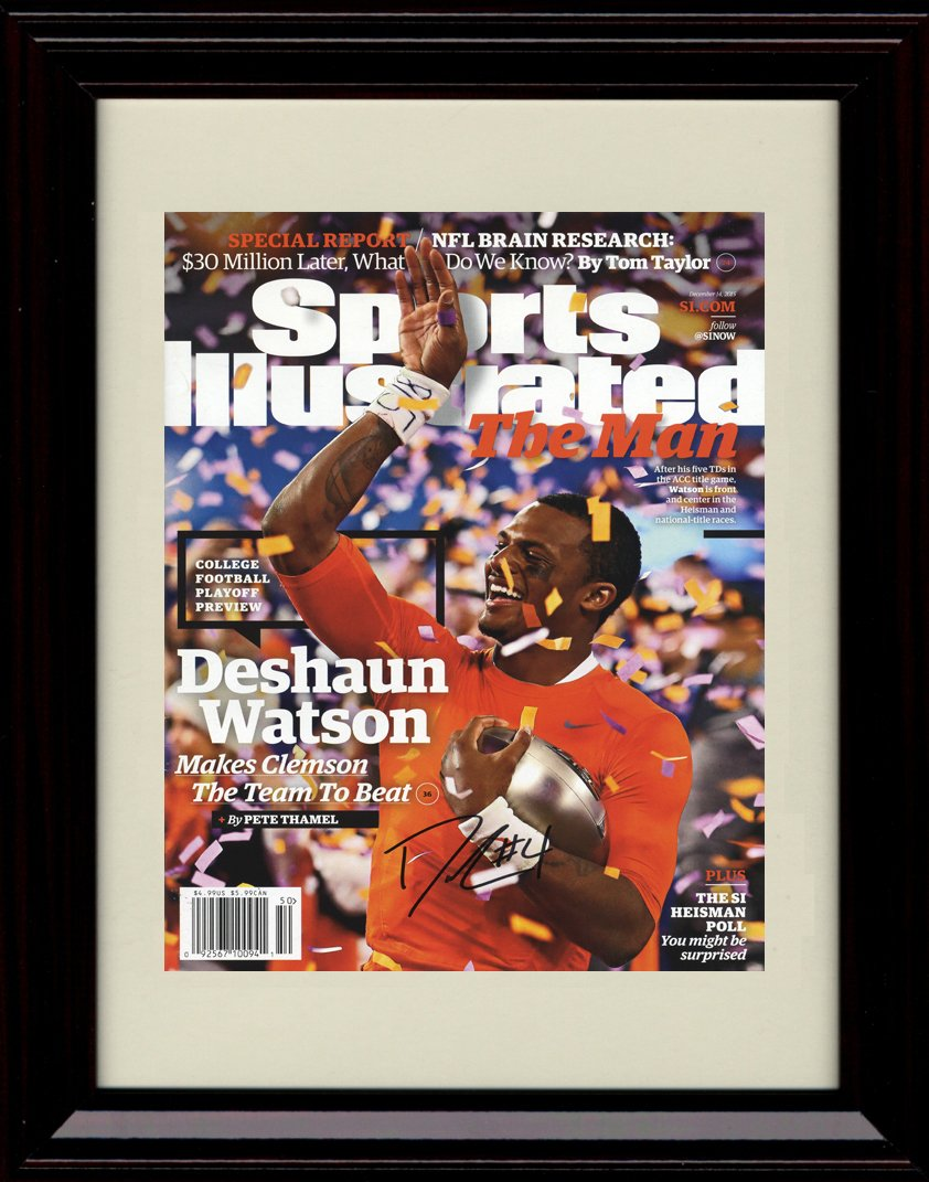 Framed DeShaun Watson Sports Illustrated Autographレプリカ印刷 – Clemson The Team to Beat 。   B01N7XCFOE