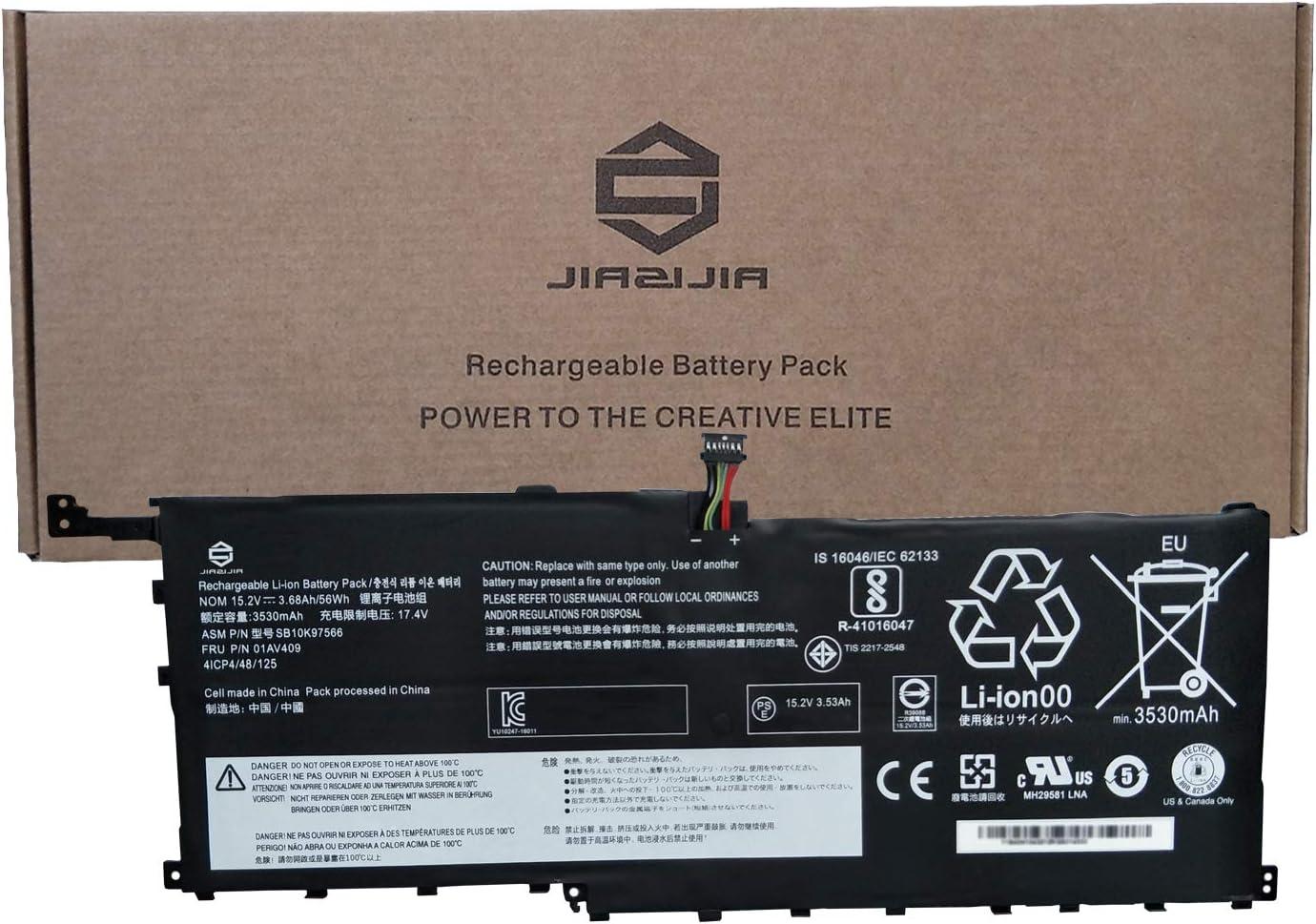 JIAZIJIA 01AV409 Laptop Battery Replacement for Lenovo ThinkPad X1 Yoga 1st 2nd Gen X1 Carbon 4th Gen Series SB10K97566 00HW028 01AV457 01AV441 01AV439 01AV410 00HW029 01AV458 01AV438 15.2V 56Wh
