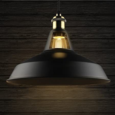 B2ocled 1 black ceiling lights metal lamp shades industrial pendant b2ocled 1 black ceiling lights metal lamp shades industrial pendant light ceiling lighting shade 27cm diameter mozeypictures Image collections
