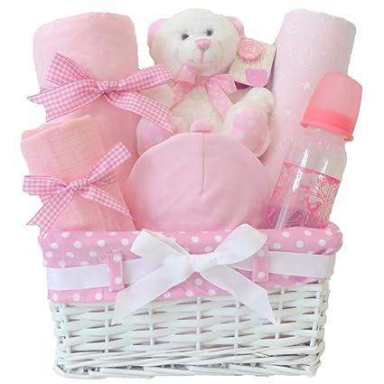 Cesta de regalo para bebé, niña, para regalo de bebé, ropa de recién ...