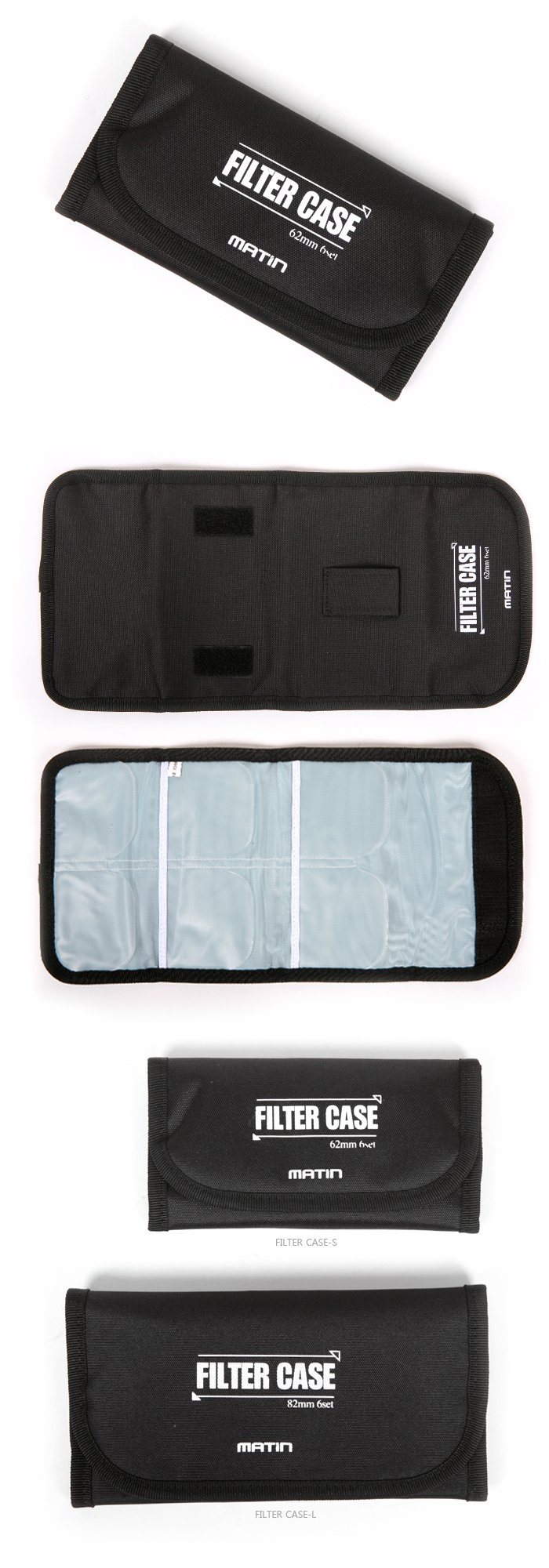 Matin Filter Case - Large : 6pcs 67-82mm Filters
