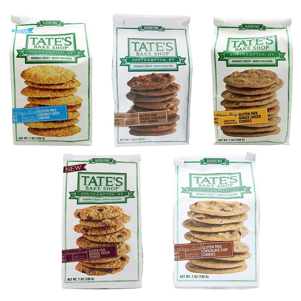 Tate's Bake Shop Gluten Free Variety Pack - 7 Oz Bags Pack Of All 5 Flavors by Tate's Bake Shop