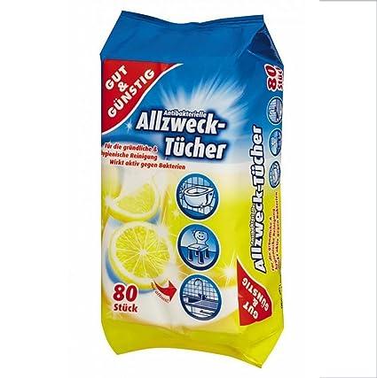 Dispensador de toallitas de limpieza antibacteriano 80 pcs - con olor aroma a limón