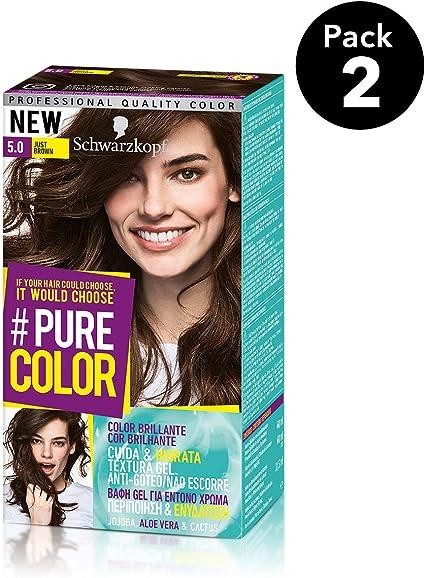 Pure Color de Schwarzkopf Tono 5.0 Just Brown - 2 uds - Coloración Permamente