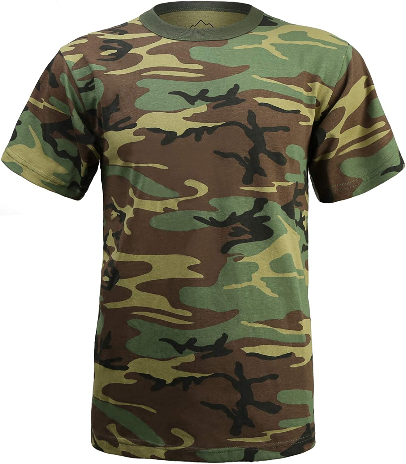 SEEU Military Mens Shirts Long Sleeve Mens Camo Cargo Combat T-Shirt with 1//4 Zipper