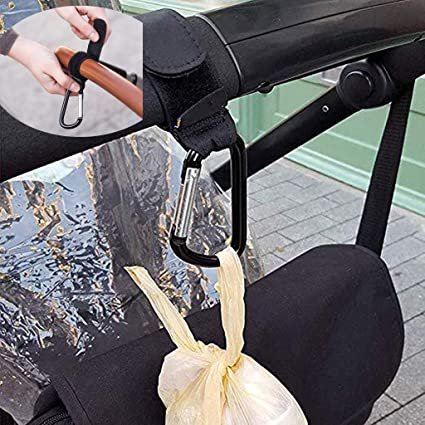 Landau crochets x 4 clips buggy poussette transporteur sac crochet idéal pour le shopping voyage