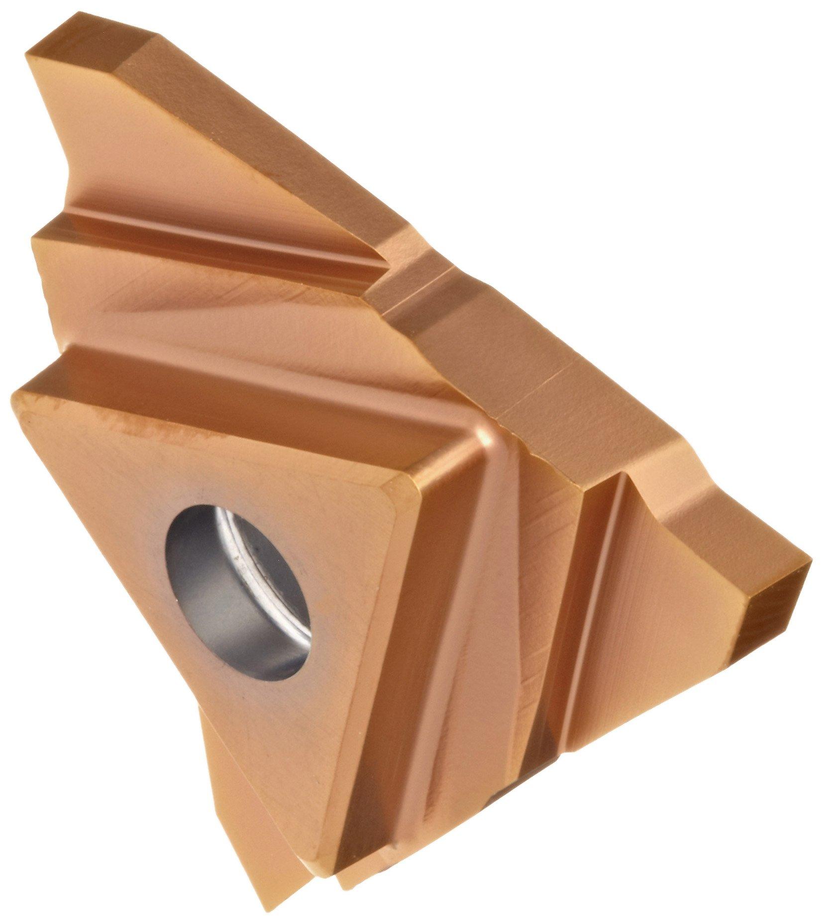 Sandvik Coromant CoroCut 3 Carbide Grooving Insert, GS Geometry, GC1125 Grade, Multi-Layer Coating, 3 Cutting Edges, N123T3-0090-0000-GS, Neutral Cut, Right-Hand Orientation,, 0.035'' Cutting Width, 0'' Corner Radius, T Insert Seat Size (Pack of 10)