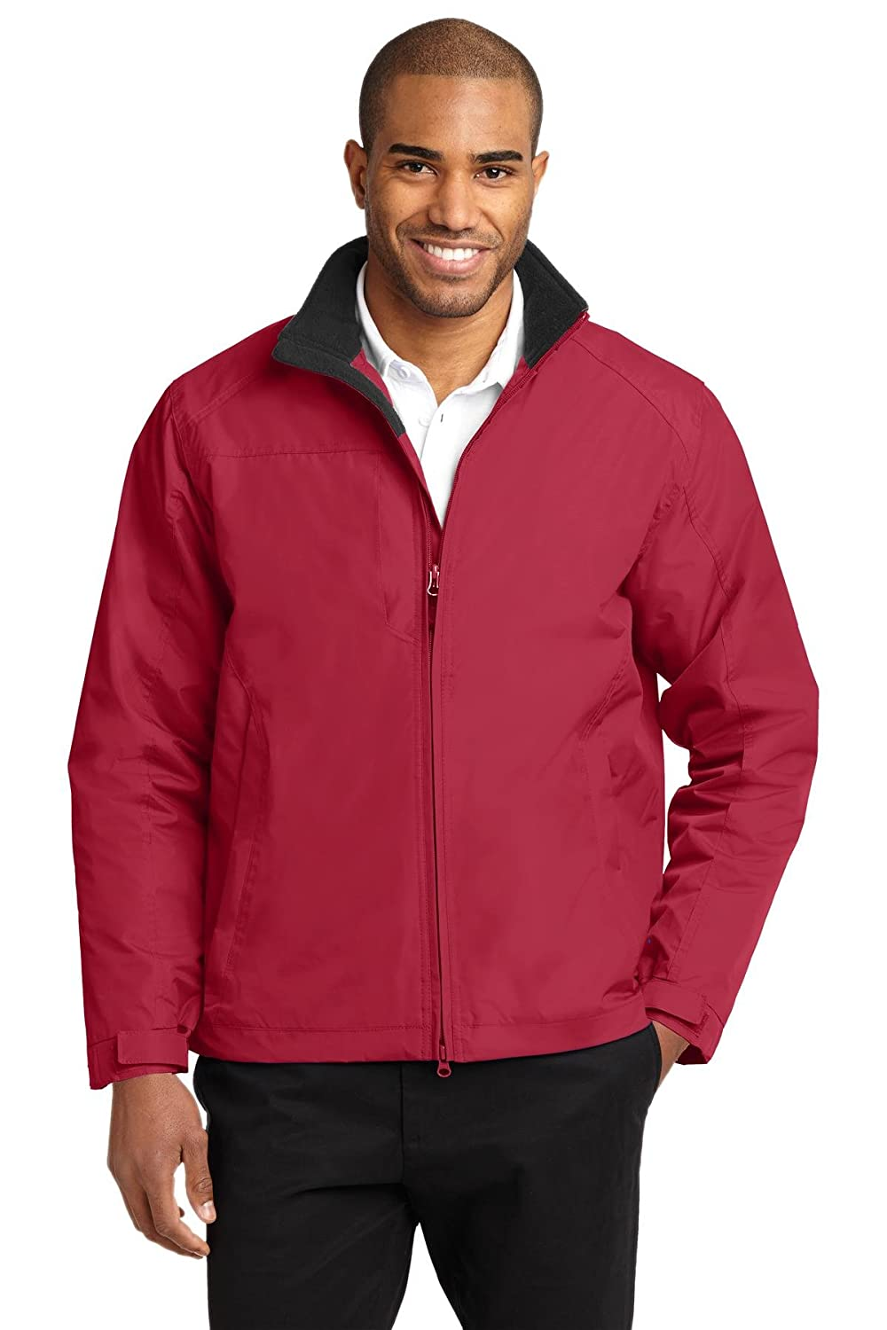 Port Authority OUTERWEAR メンズ B008FQIPRG XL|True Red/True Black True Red/True Black XL