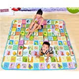 100% Waterproof, Single Side Baby Play & Crawl Mat (6 ft x 6.5 ft) (Colour & Design may vary)