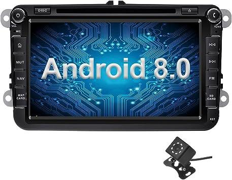 Ohok 2 DIN Android 8.0 Autoradio 8 Pulgadas Oreo Octa Core 4GB Ram ...