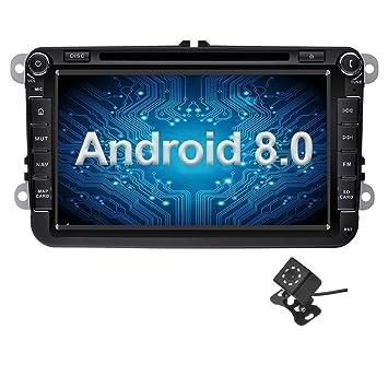 Ohok 2 DIN Android 8.0.0 Autoradio 8 Pulgadas Oreo Octa Core 4GB Ram 32GB