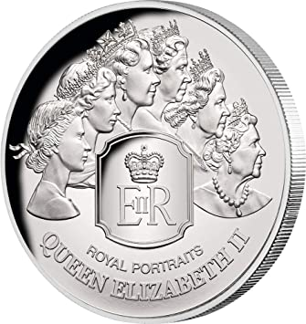 Power Coin Royal Portraits Reina Queen Elizabeth II 1 Oz Moneda ...