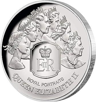 Power Coin Royal Portraits Reina Queen Elizabeth II 1 Oz Moneda ...